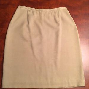 Banana Republic silk pencil skirt.